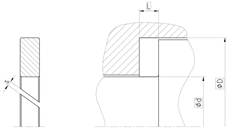 Рекомендации к размерам направляющего кольца F02
