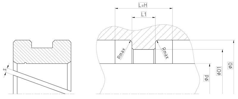 Рекомендации к размерам направляющего кольца F08