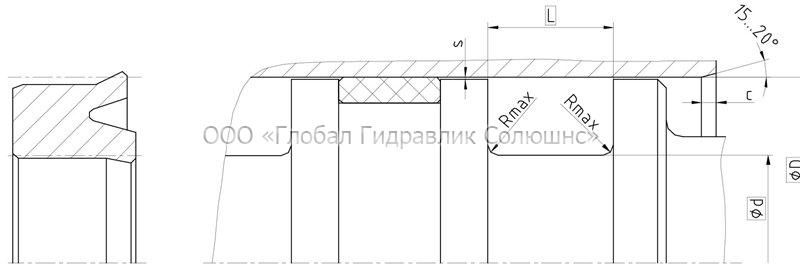 Рекомендации к размерам уплотняемых деталей K01-P
