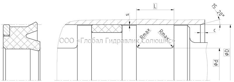 Рекомендации к размерам уплотняемых деталей K02-R