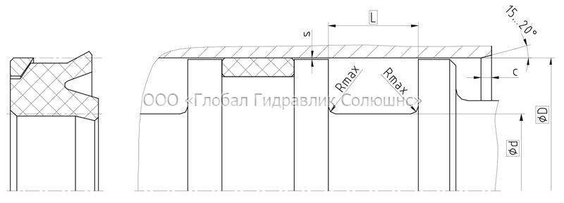Рекомендации к размерам уплотняемых деталей K02-RD