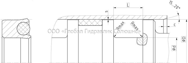 Рекомендации к размерам уплотняемых деталей K03-F