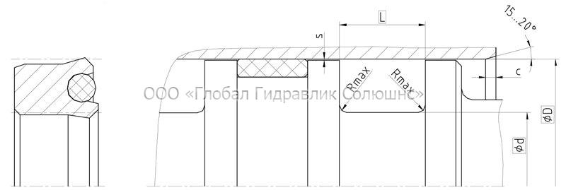 Рекомендации к размерам уплотняемых деталей K03-P