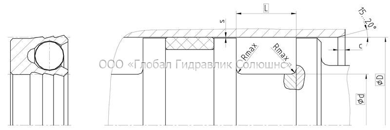 Рекомендации к размерам уплотняемых деталей K03-S