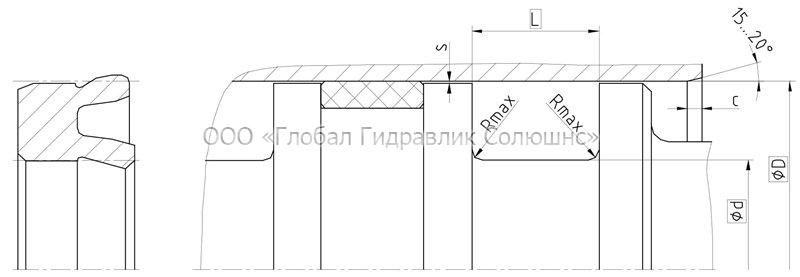 Рекомендации к размерам уплотняемых деталей K05-P