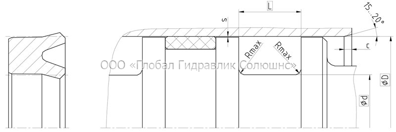 Рекомендации к размерам уплотняемых деталей K06-P