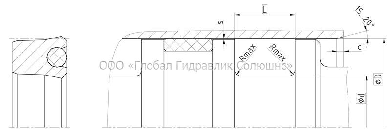 Рекомендации к размерам уплотняемых деталей K07-P