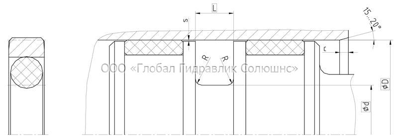 Рекомендации к размерам уплотняемых деталей K08-D