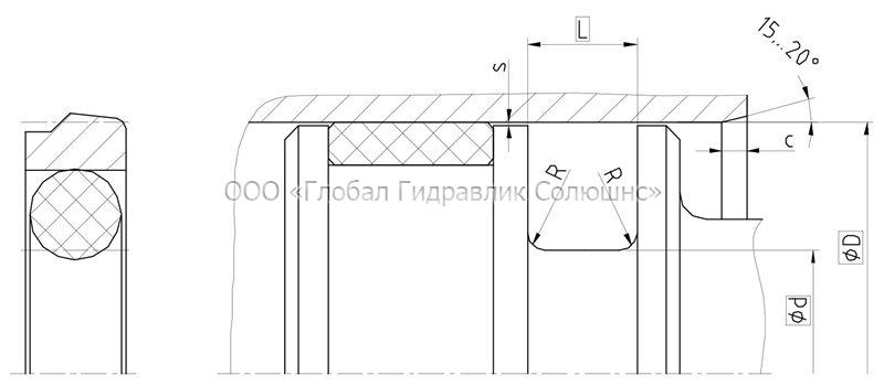 Рекомендации к размерам уплотняемых деталей K08-E