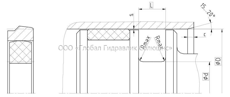 Рекомендации к размерам уплотняемых деталей K08-ES