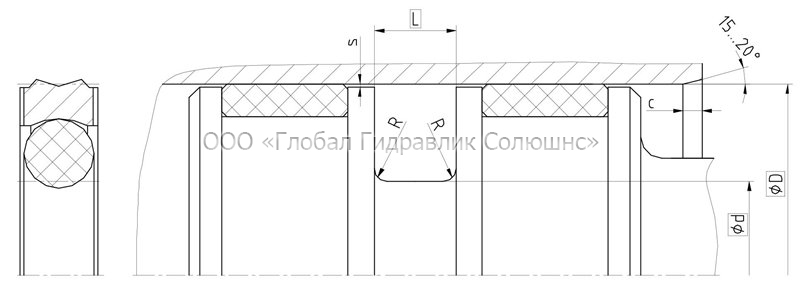 Рекомендации к размерам уплотняемых деталей K08-P