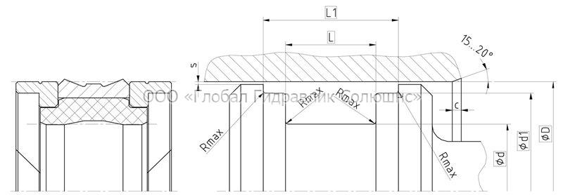 Рекомендации к размерам уплотняемых деталей K09-D