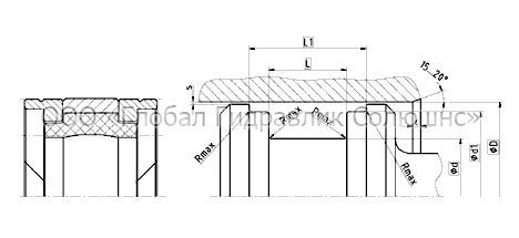 Рекомендации к размерам уплотняемых деталей K09-E