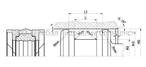 Рекомендации к размерам уплотняемых деталей K09-H
