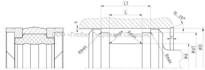 Рекомендации к размерам уплотняемых деталей K09-N
