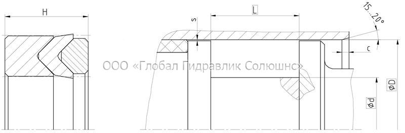 Рекомендации к размерам уплотняемых деталей K1012-T