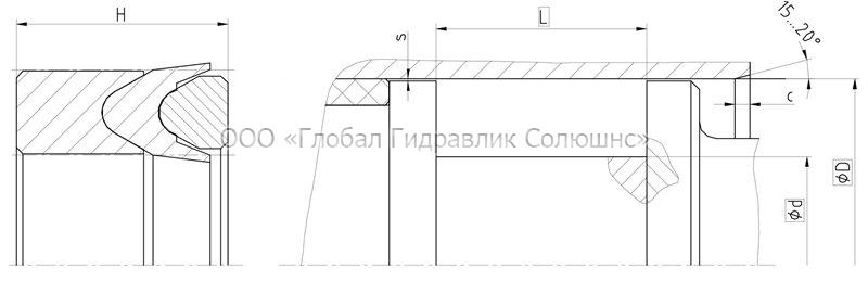 Рекомендации к размерам уплотняемых деталей K1315-T