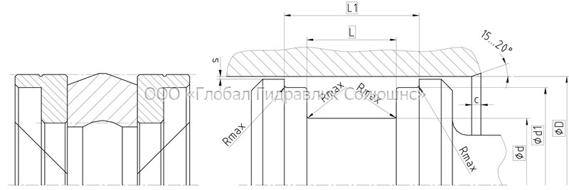 Рекомендации к размерам уплотняемых деталей K17-P