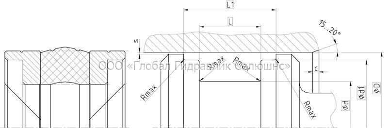 Рекомендации к размерам уплотняемых деталей K17-R