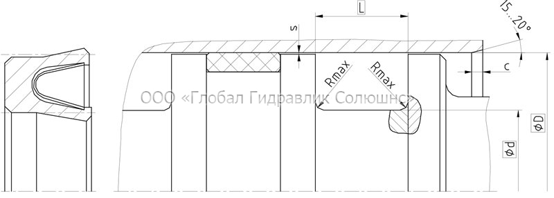 Рекомендации к размерам уплотняемых деталей K19-F