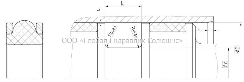 Рекомендации к размерам уплотняемых деталей K20-R