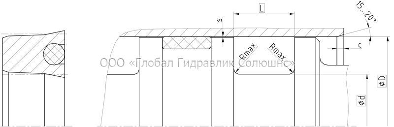 Рекомендации к размерам уплотняемых деталей K21-P