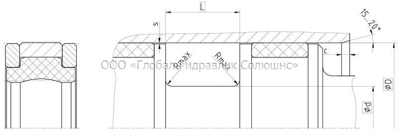 Рекомендации к размерам уплотняемых деталей K23-F