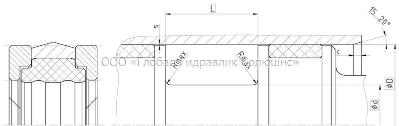 Рекомендации к размерам уплотняемых деталей K23-H