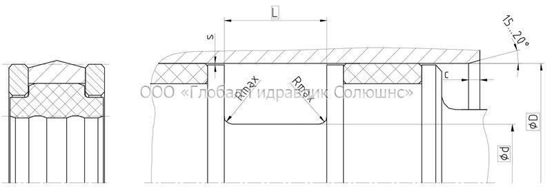 Рекомендации к размерам уплотняемых деталей K23-N