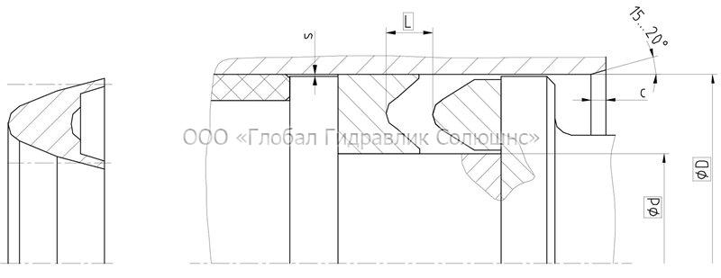 Рекомендации к размерам уплотняемых деталей K24-P