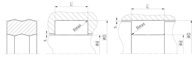 Рекомендации к размерам уплотнительного кольца R15
