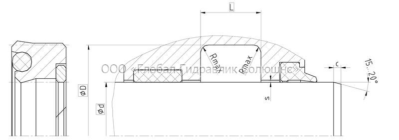 Рекомендации к размерам уплотняемых деталей DS652-631