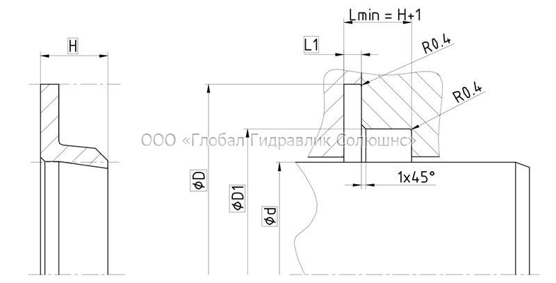 Рекомендации к размерам уплотняемых деталей S16-A