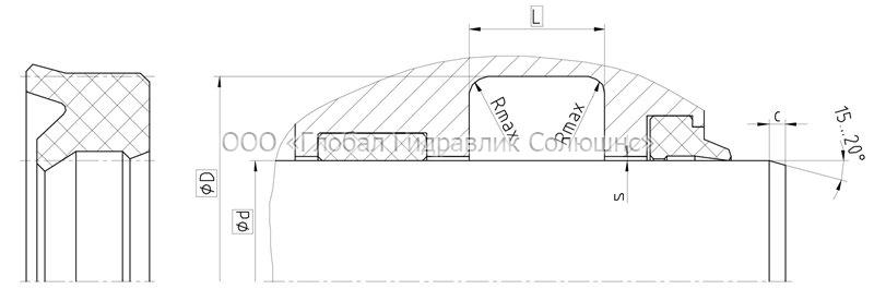 Рекомендации к размерам уплотняемых деталей S17-R