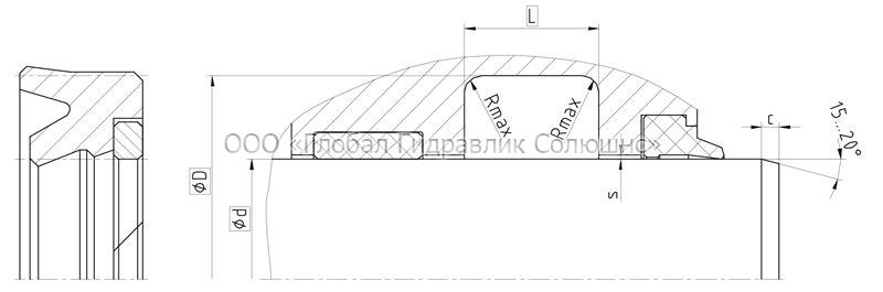 Рекомендации к размерам уплотняемых деталей S18-P