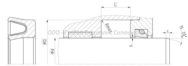 Рекомендации к размерам уплотняемых деталей S19-F