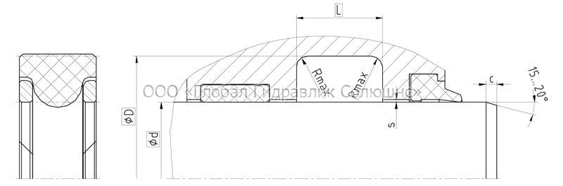 Рекомендации к размерам уплотняемых деталей S20-R