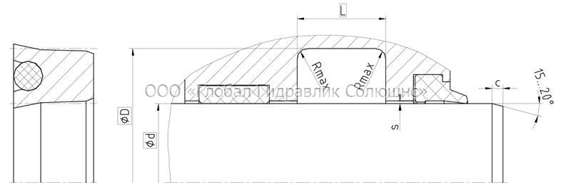 Рекомендации к размерам уплотняемых деталей S21-P