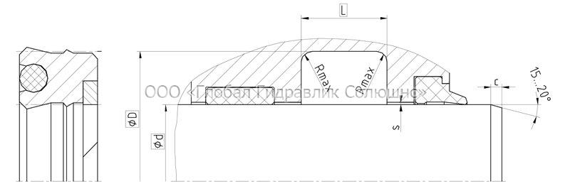 Рекомендации к размерам уплотняемых деталей S24-P