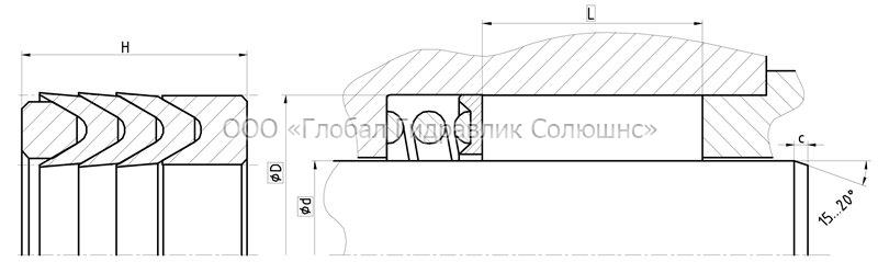 Рекомендации к размерам уплотняемых деталей S2931-F