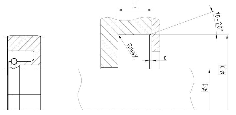 Уплотнение вала R01-AS. Сальник