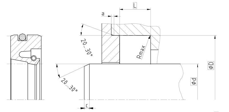 Уплотнение вала R01-F. Сальник