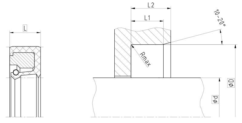 Уплотнение вала R02-R. Манжета армированная