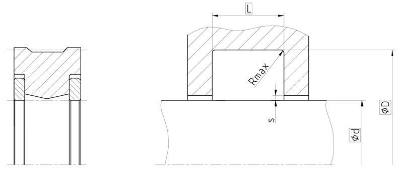Уплотнение вала R03-P. Сальник