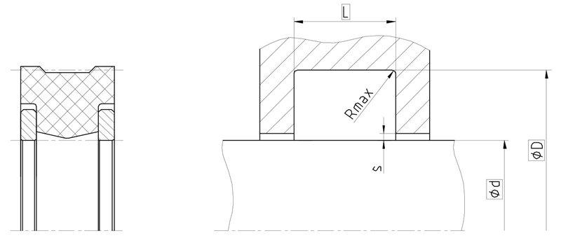 Уплотнение вала R03-R. Сальник