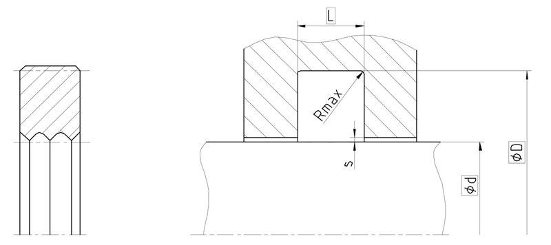 Уплотнение вала R04-A. Сальник