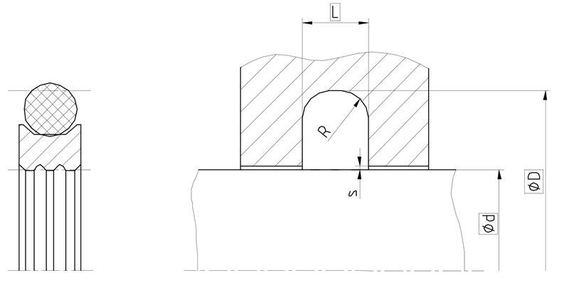 Уплотнение вала R09-F. Роторное уплотнение