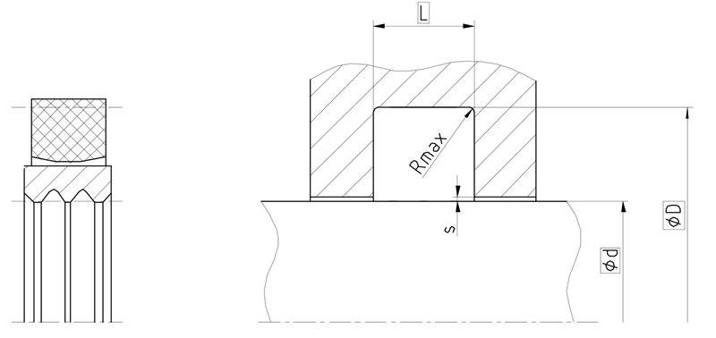 Уплотнение вала R09-FS. Роторное уплотнение