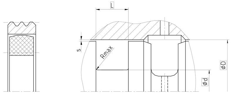 Уплотнение вала R10-FS. Роторное уплотнение