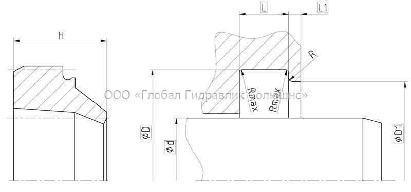 Рекомендации к размерам уплотняемых деталей A01-B
